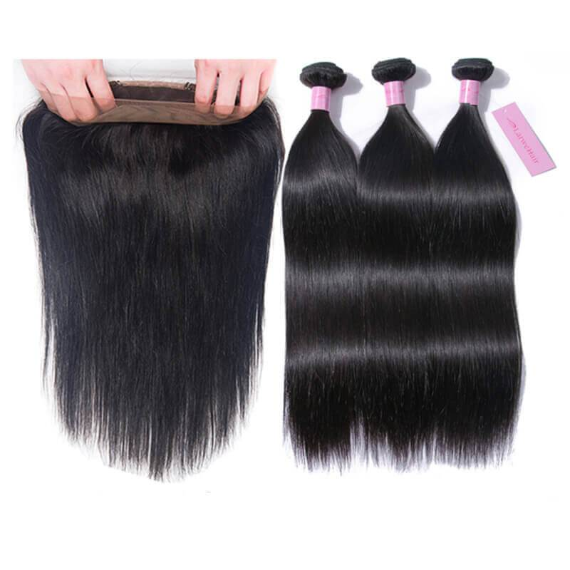 Brazilian hair bundles with closure-3