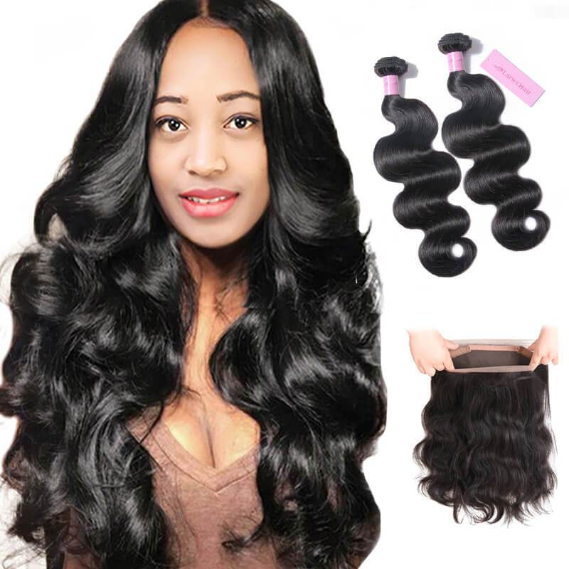 Hair bundles with closure-2