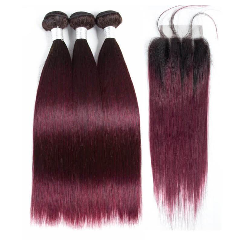 Brazilian hair bundles with closure-4