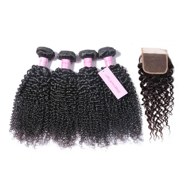 Hair bundles with closure-3