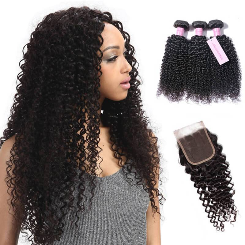 Brazilian hair bundles with closure-2