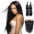 8A 2 Bundles Virgin Human Hair Straight Peruvian Hair With 360 Lace Frontal Closure Larwehair