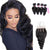 8A 4 Bundles Remy Hair Loose Wave Brazilian Hair With 4x4 Lace Closure Three Part Larwehair