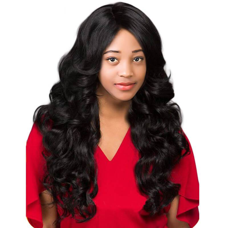 Human lace front wigs with baby hair-3