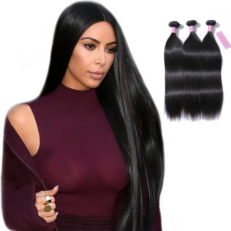 Straight hair weave-2