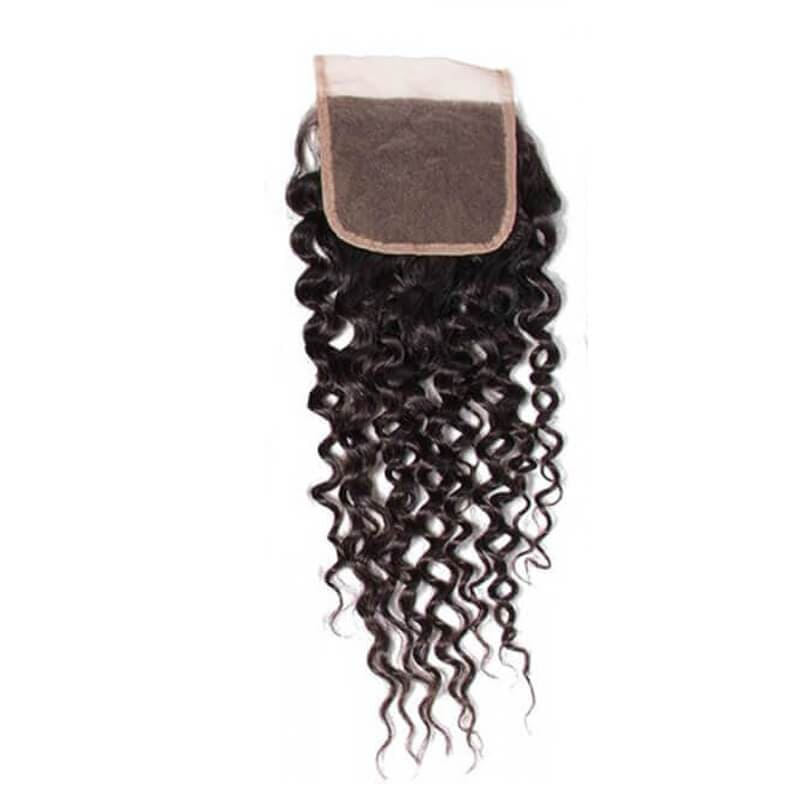 Curly weave with closure-3