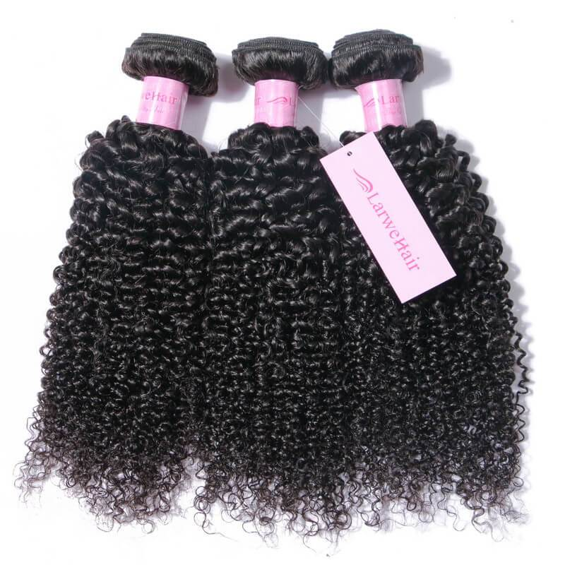 Curly weave with closure-2