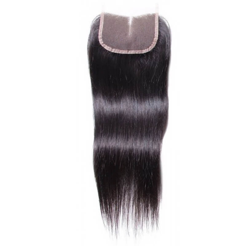 Straight weave with closure-3