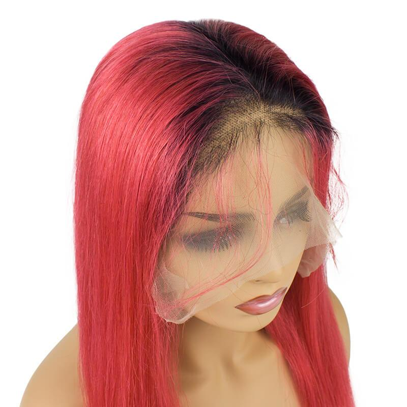 Colored human hair wigs-5