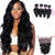 8A 4 Bundles Loose Wave Malaysian Virgin Human Hair With 360 Lace Frontal Closure Larwehair