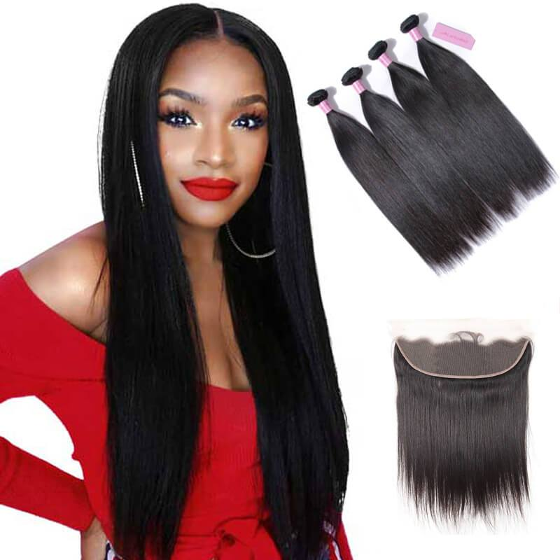 Lace frontal with bundles-2
