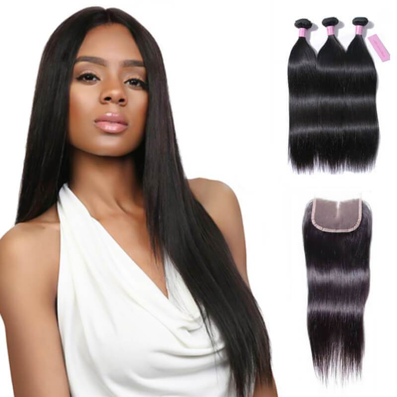 Straight hair with closure-2