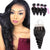 8A 4 Bundles Remy Hair Loose Wave Malaysian Hair With 4x4 Lace Closure Three Part Larwehair