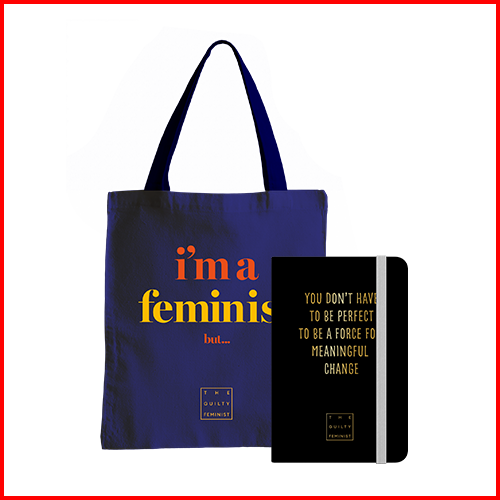 """I'm a Feminist but..."" Tote Bag & Notebook Bundle"