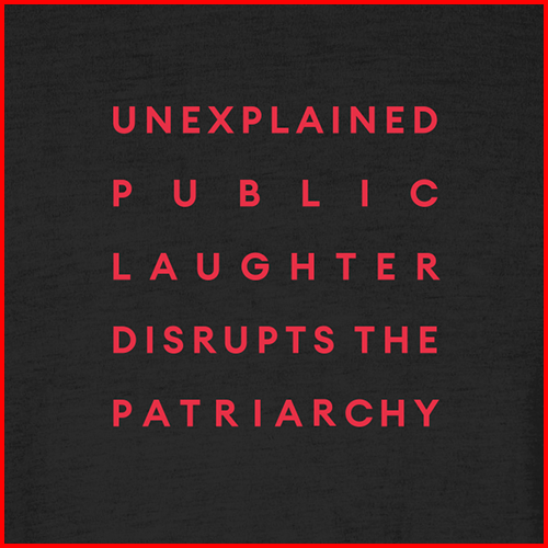 'Public Laughter' Black T-shirt