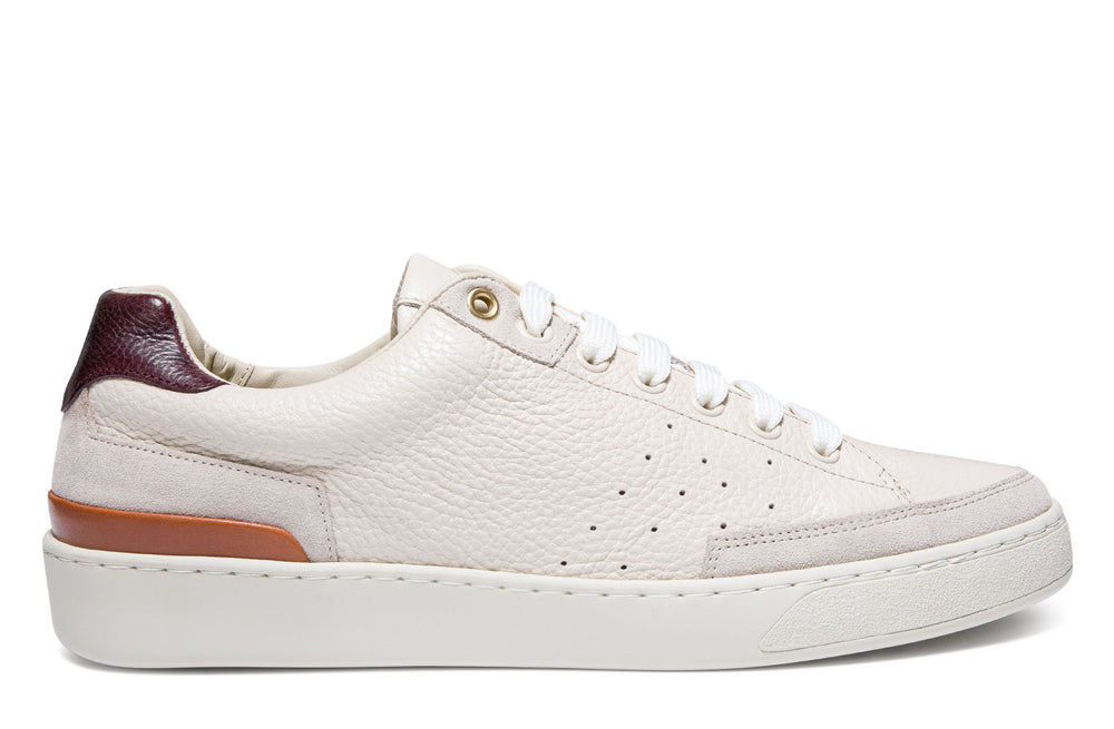 Cassetta - Cream/ Burgundy - Floater Leather