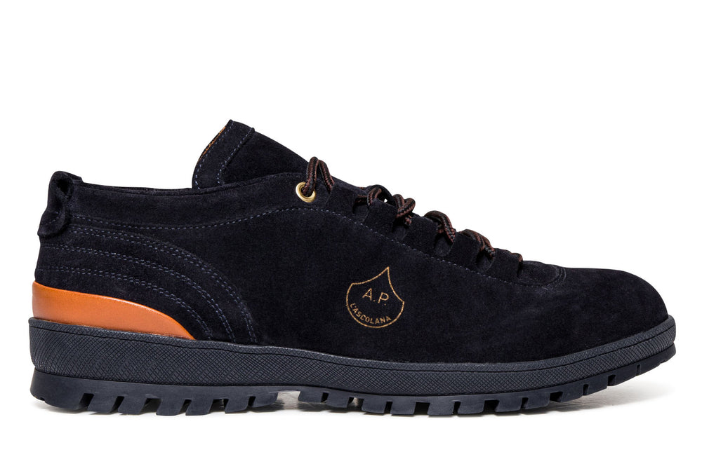 Lux Tracking - Navy - Mastrotto Suede