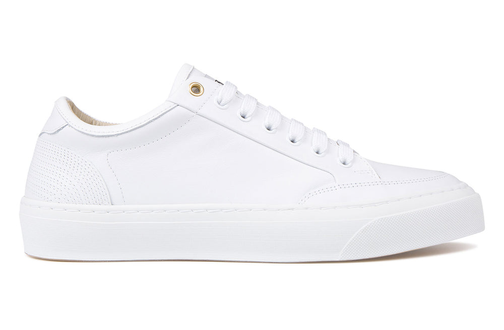 Calcio Plimsol Vitello Leather - Bianco