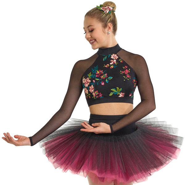 121 - R434T Spring Storm Crop Top - Curtain Call Costumes Australia