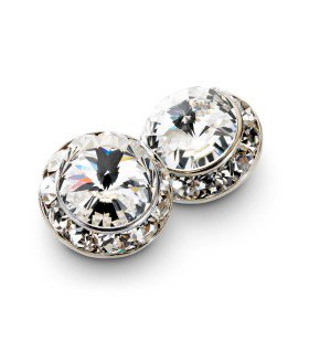 999 - W088 Rhinestone Cluster Clip Earrings