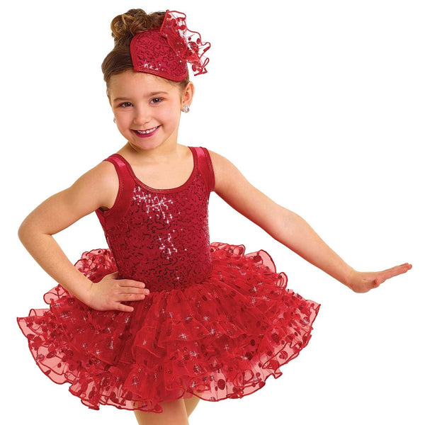 028 - E2166 Red My Mind - Curtain Call Costumes Australia