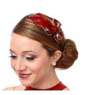 999 - W1520 Sequin Leaf and Feather Headband