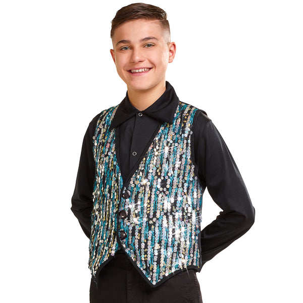 361 - B2264  Guys Sequin Vest