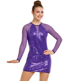 P061 - J5293 SEQUIN AND MESH DRESS