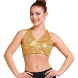 257 - P160  Sequin bra top