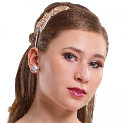 004 - W1584 Beaded Bow Headband