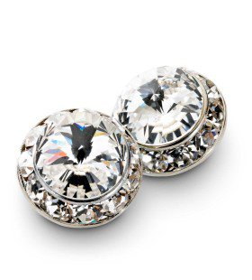 999 - W089 Rhinestone Cluster Pierced Earrings