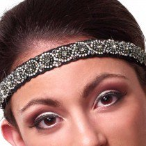 P036 - W1484  Beaded Stretch Headband