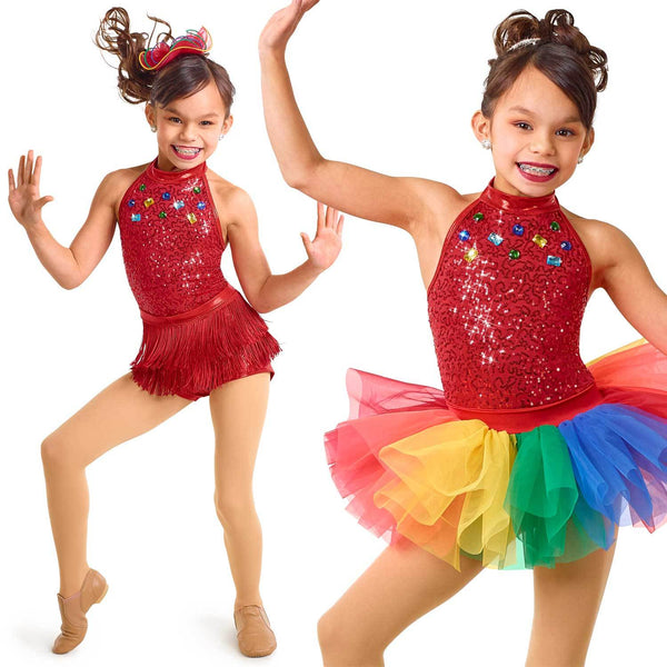 065 - E2153 Rainbow Party 2-In-1 - Curtain Call Costumes Australia