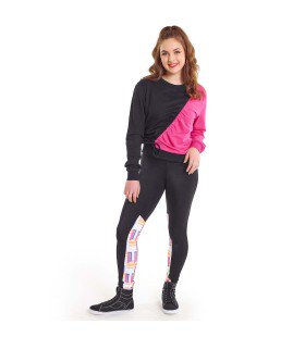 N003C - N196 Neon Panel Leggings