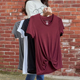900A N217 - Twist Front Tee