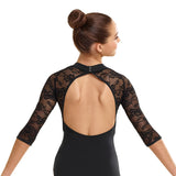 364 - T5081  Lace mock neck Leotard