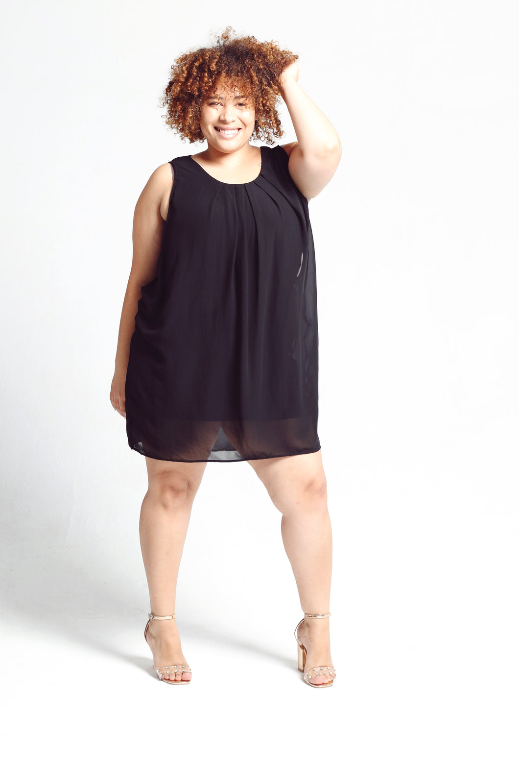 Black sleeveless dress - Size Large