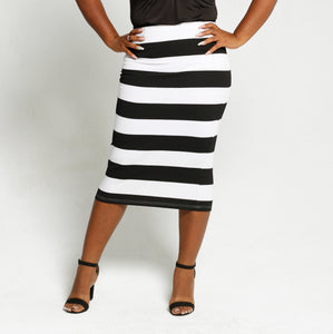 Striped Skirt - Size 34