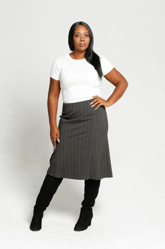 Pin stripe skirt - Size 38
