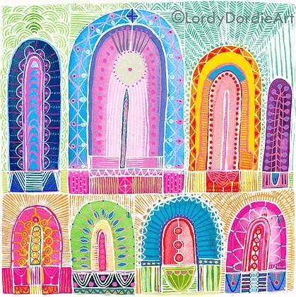 """Arches 2"" - Giclee Art Print - Lordy Dordie Art"