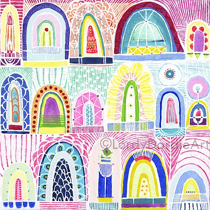 """Arches 1"" - Giclee Art Print - Lordy Dordie Art"