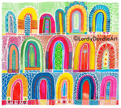 """Arches 3"" - Giclee Art Print - Lordy Dordie Art"