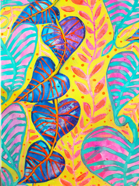 """Tropical Daydream"" Wall Art - Original Canvas 1 of 3 - lordydordie"