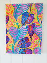 """Tropical Daydream"" Wall Art - Original Canvas 3 of 3 (40cm wide X 55cm) - lordydordie"