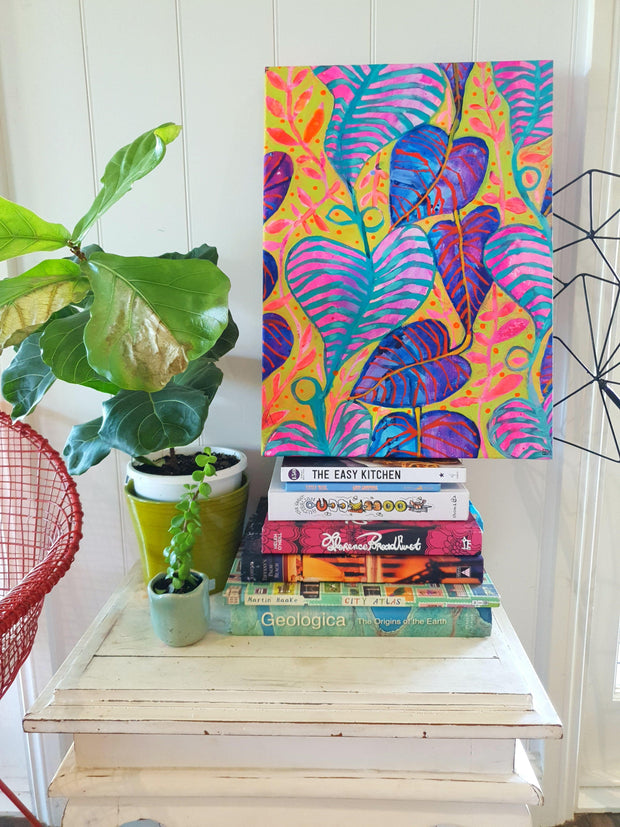 """Tropical Daydream"" Wall Art - Original Canvas 3 of 3 - lordydordie"