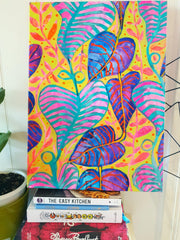 """Tropical Daydream"" Wall Art - Original Canvas 3 of 3 (40cm wide X 55cm) - Lordy Dordie Art"