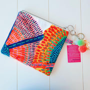 Large NEON SUNSHINE FLOWERS Art Clutch - #3 of 4 - lordydordie