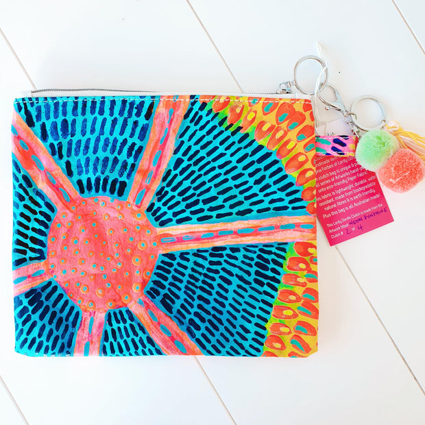 NEON SUNSHINE FLOWERS Art Clutch - #2 of 4 - lordydordie