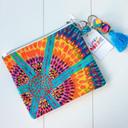 NEON SUNSHINE FLOWERS Art Clutch - #1 of 4 - Lordy Dordie Art