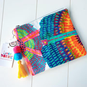 Large NEON SUNSHINE FLOWERS Art Clutch - #4 of 4 - lordydordie